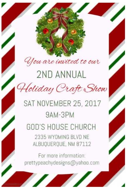Gods House Church 2nd Annual Holiday Craft Show